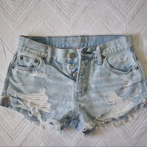 AMERICAN EAGLE OUTFITTERS Light Denim Jean Shorts